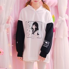 Kawaii Anime Girl Hoodie sold by ★Magic Moon★ on Storenvy Teen Fashion Outfits, Anime Outfits, Cute Outfits, Hoodie Outfit, Sweater Hoodie, Kawaii Fashion, Cute Fashion, Style Fashion, Kawaii Clothes
