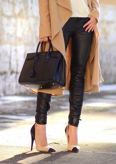 f61f4a76ecfcc Oh My Vogue  Saint Laurent Bag Zara Leather Pants