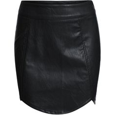 SheIn(sheinside) Black Slim Bodycon PU Skirt ($16) ❤ liked on Polyvore featuring skirts, shein, black, body con skirt, short black skirt, bodycon skirt, slimming skirts and short skirts