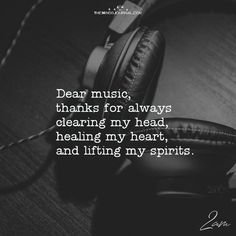Dear Music, Thanks For Always Clearing My Head – themindsjournal.c… Dear Music, Thanks For Always Clearing My Head – themindsjournal. Music Lyrics, Music Songs, My Music, Quotes For Music, Singing Quotes, Music Guitar, Papa Roach, Music Is My Escape, Music Is Life