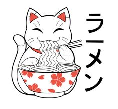 Tattoo-design – Maneki Neko by Shadaty on DeviantArt - Tattoo Maneki Neko, Neko Cat, Kitty Cats, Lucky Cat Tattoo, Tattoo Cat, Japanese Cat, Dibujos Cute, Japan Design, Japan Art