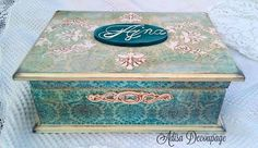 Adisa Decoupage Decoupage Box, Altered Boxes, Vintage Box, Decorative Boxes, Wall, Painting, Home Decor, Beautiful, Painted Boxes