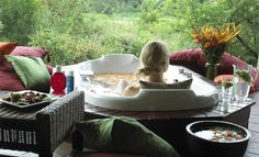 Tintswalo Safari Lodge lies beneath a grove in sycamore tree in a private concession in the Kruger National Park called Manyeleti Game Reserve. Kruger National Park, National Parks, Game Lodge, Beautiful Pools, Relaxing Bath, Self Driving, Outdoor Furniture Sets, Outdoor Decor, Beautiful Interiors