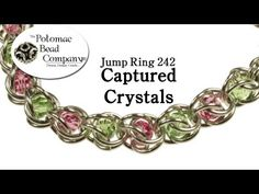 Jump Ring 242 Captured Crystals - YouTube free tutorial from The Potomac Bead Company. Potomac bead company has hundreds of tutorials on YouTube and tens of thousands of products (gemstones, crystals, glass, seed beads, pendants, silver, findings, tools & more) in retail bead stores and on TheBeadCo.com! www.potomacbeads.com www.thebeadco.com