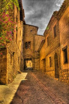Street of Alquezar, Aragon, Spain