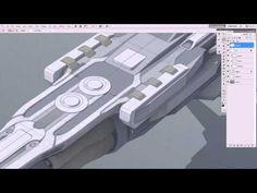 ▶ Pene Menn : Concept Art - Space Ship Tutorial 1 ( painting) - YouTube