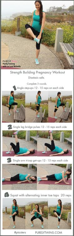 Lifting for two! A prenatal strength building full body workout. A great momma-to-be routine to continue to build up strength. This workout is great to do during your 2nd and 3rd trimesters. A workout that strengthens your entire body. All you need is a chair or bench and some free weights. Strength training workouts like this one are great to help mommas stay strong and healthy during pregnancy, aid in labor, and be helpful once the little one arrives.