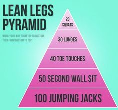 Workout for Lean Legs ! Get Fit! Fitness Motivation, Daily Motivation, Fitness Diet, Health Fitness, Fitness Fun, Workout Fitness, Personal Fitness, Fitness Quotes, College Fitness