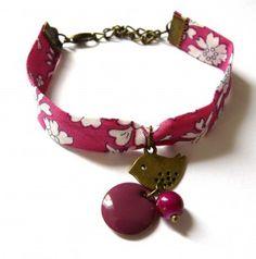 Bracelet Liberty Rose et Oiseau  : Bracelet par henne sur ALittleMarket