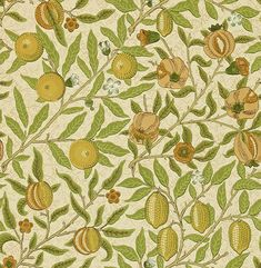 Fruit by Morris - Lime / Green / Tan - Wallpaper : Wallpaper Direct Coral Wallpaper, Paper Wallpaper, Wallpaper Online, Wallpaper Roll, William Morris Wallpaper, Morris Wallpapers, Phone Wallpapers, Classic Wallpaper, Painted Rug