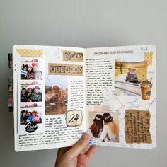 1,057 vind-ik-leuks, 42 reacties - CreaChick (@creachick) op Instagram: 'Nieuwe pagina in mijn bullet journal. Video ervan vind je op mijn YouTube kanaal. Link in bio.…' Photo Journal, Journal Pages, Bullet Journal Inspo, Bullet Journals, Bullet Art, Journal Aesthetic, Art Journal Inspiration, Journal Ideas, Scrapbook Journal