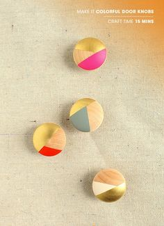 How-To: Colorful Closet Door Knobs and Drawer Pulls #painting