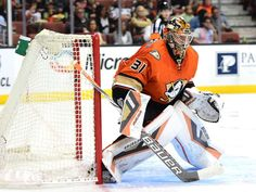 Frederik Andersen #31 of the Anaheim Ducks
