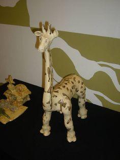 giraffe (glazed clay)