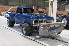 1979`Cab & 1985 Bed; swb step side, Pulling truck, called summertime Blues