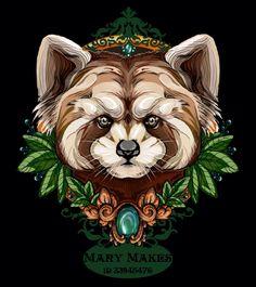 Red panda tattoo sketch