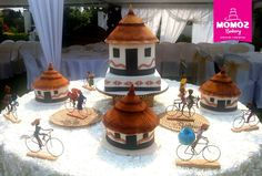 Traditional Wedding Cakes, Traditional Cakes, African Hut, Cake Decorating Techniques, African Attire, Homestead, Ideas