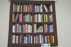 Bookcase quilt! With my favorite books!