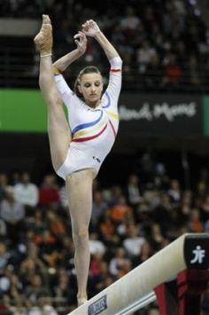 Ana Porgras (Romania) on balance beam at the 2010 World Championships