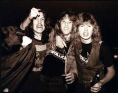 James Hetfield, Dave Mustaine and Cliff Burton.