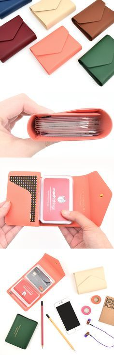 The most convenient and classy way to organize your cards! The cards will never slip out of the card book and be securely stored inside. Also, this lovely card book will significantly reduce the time to find the card you need!