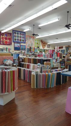 Here at Happy Apple Karen makes sure to have a lot of different fabrics to choose from. We range from Batiks to 1930's and everything in between.