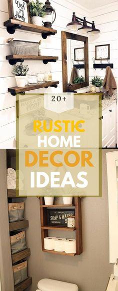 Brilliant Rustic Home Design #rustichouse #rusticideas Diy Rustic Decor, Rustic Home Design, Rustic Theme, Diy Home Decor, House Design, Cabin, Decoration, Simple, Pretty