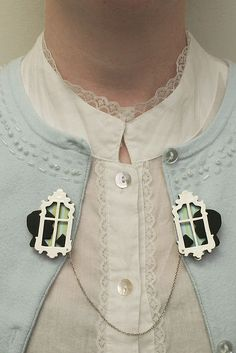 """Before Walkie Talkies"" Sweater Pins by Mari Fray Foster"