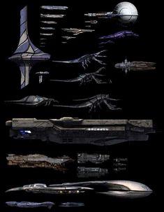 Starship Saturday, comparing Halo and Mass Effect Spaceship Art, Spaceship Design, Spaceship Concept, Concept Ships, Mass Effect Ships, Mass Effect Art, Star Citizen, Halo Ships, Overwatch