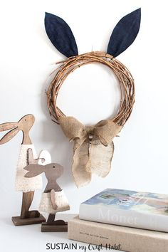 Make your own adorable Easter wreath