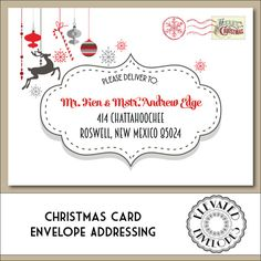 Christmas envelope addressing printable christmas envelopes christmas envelope addressing printable by elevatedenvelopes altavistaventures Choice Image