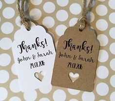 Rustic thank you wedding favour tags