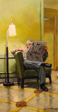 """Lamp Post"" - Original Fine Art for Sale - © Karin Jurick"