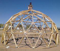 Dome Cabin Kits - The geodesic dome is able to cover more space without internal supports than any other enclosure. Geodesic Dome Kit, Geodesic Dome Greenhouse, Gazebo, Pergola, Dome Structure, Cabin Kits, Dome House, Earthship, Play Houses