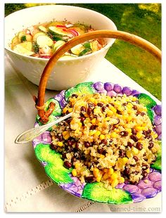 Quinoa Black Bean Corn Salad - going viral on Pinterest from Canned-Time.com