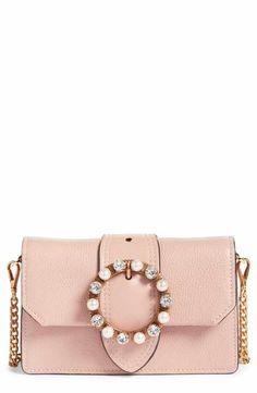 Miu Miu Lady Madras Crystal Embellished Leather Crossbody Bag Best Designer  Bags 2f1afb09033a3
