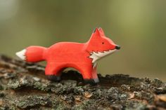 Fox Wooden Toy  - Nature Table - Waldorf Animal. $14.00, via Etsy.
