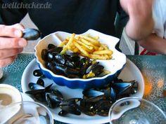 Französische Küche: Muscheln mit Pommes