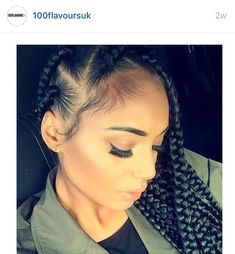 Jumbo box braids                                                                                                                                                                                 More