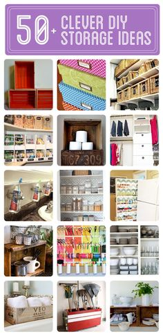 50+ Clever DIY Storage & Organization Ideas - Click to see them all! - Click image to find more DIY & Crafts Pinterest pins