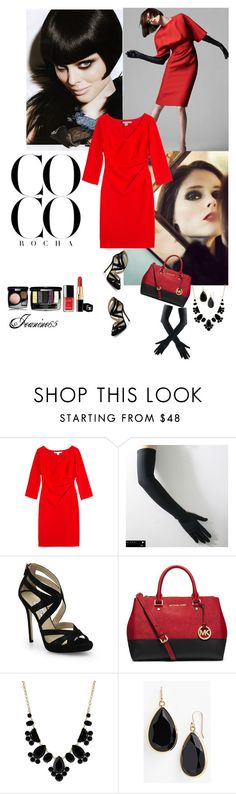 """""""Coco Rocha"""" by jeanine65 ❤ liked on Polyvore featuring Diane Von Furstenberg, Jimmy Choo, MICHAEL Michael Kors, Kate Spade, Chanel, women's clothing, women, female, woman and misses"""