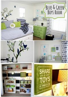 Green Boys Room by Courtney from A Thoughtful Place! Love this bright and happy room! Perfect for any kid!