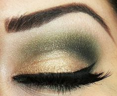 Green And Gold Eye Shadow.
