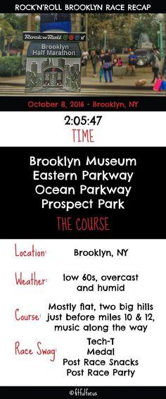 Rock'n'Roll Brooklyn Half Marathon Race Recap | Rock'n'Roll Race | Race Bling | Running | Wild Workout Wednesday | Run Brooklyn | Running Tips