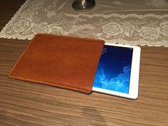 Leather iPad Case Handmade Leather Ipad Felt Interior by BurlapUSA
