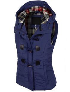 Womens Navy Faux Fur Hooded Vest | Purchase Online |Pink luxe