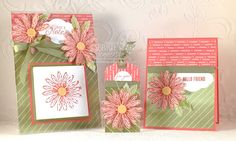 Debbie's Designs: My Gift to my Upline in Thailand! #daisy #daisydelight #daisypunch #stampinup #debbiehenderson, #debbiesdesigns #postit #acrylic #3Dframe #tag