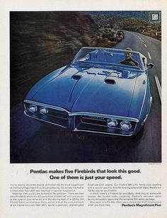 1967 Pontiac Firebird convertible advertisement