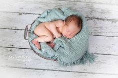 Newborn in basket - so sweet