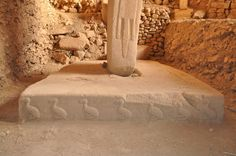 Pillar 18 in Enclosure D, Göbekli Tepe from c. 9500 BC. The Göbekli Tepans clearly had all their ducks in a row. The crispness of the carving is extraordinary!